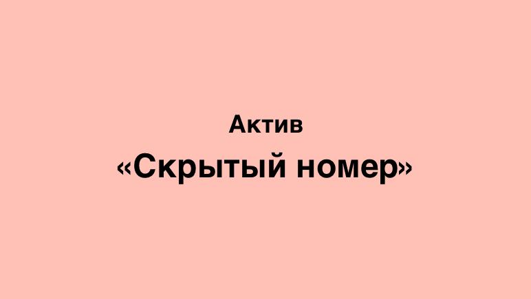 крытый номер Актив Казахстан