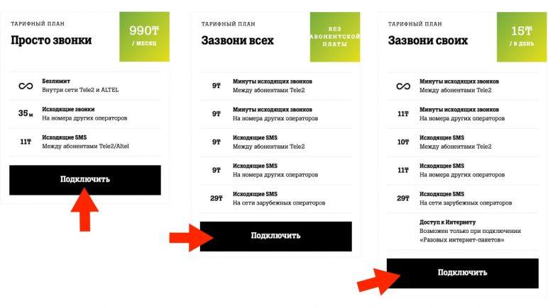 тарифы Теле2 для общения