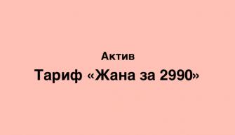 тариф Jana 2990 от Актив